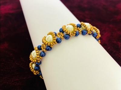 Dome Beaded Bracelet || Pearl Beaded Bracelet || How to make Beaded Bracelet