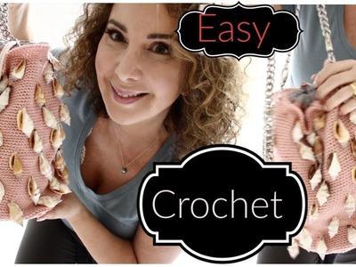 Easy Crochet Summer Shell Bucket bag