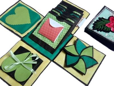 Explosion Box Gift Idea For Birthday & Anniversary ♥. Birthday Gift Ideas Homemade. Handmade Craft