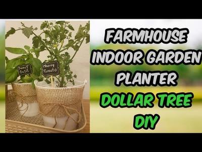 FARMHOUSE INDOOR GARDEN PLANTERS. Dollar Tree DIY