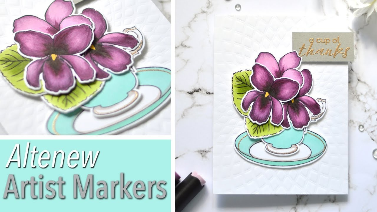 How to Colour with Artist Markers - Altenew Sweet Violets