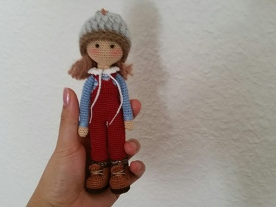 How to crochet mini overalls. tiny doll clothes