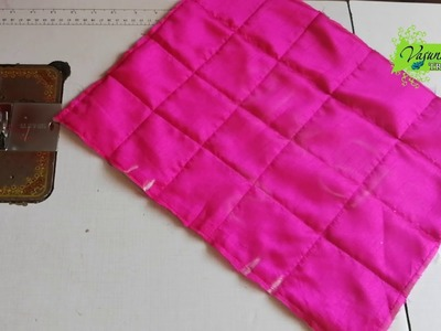 How To Sew Hand Bag With Recycled Cloth Pieces || How To Convert Old Clothes Into Handbag