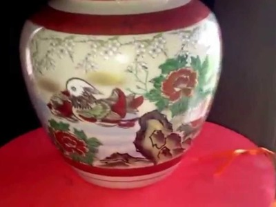 Japanese jar, vase, flowerpot.