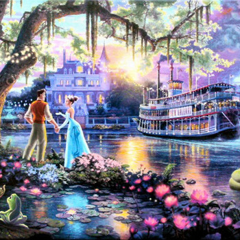 Kinkade The Princess & The Frog Cross Stitch Pattern***LOOK***X***(INSTANT DOWNLOAD)***