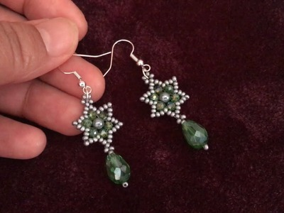 Latest Beaded Earring how to make Beaded Earring Drop Electroplate Glass Beads