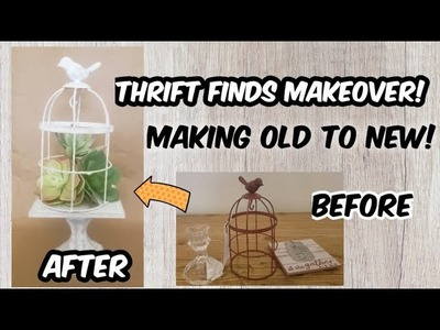 MAKING OLD NEW AGAIN! Using Thrift Finds and Dollar Tree Items!