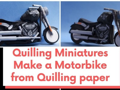 Miniature bike from Quilling paper