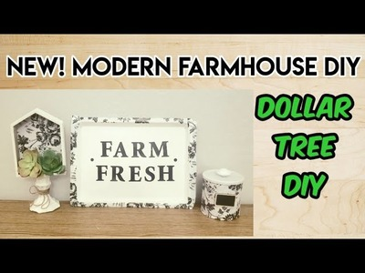 NEW! MODERN FARMHOUSE DECOR! Dollar Tree DIY