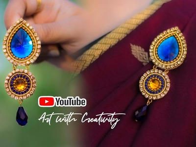 Paper Brooch for Sherwani ( शेरवानी ).Saree | Made up of paper | Art with Creativity