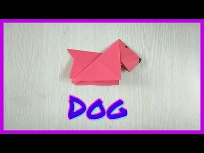 Paper Dog ???? craft it is very easy to make with paper for your kids