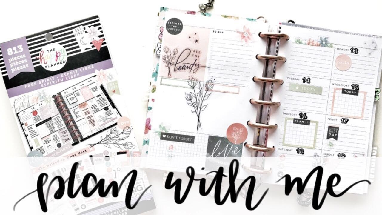PLAN WITH ME Mini Happy Planner Dashboard: May 13-19, 2019