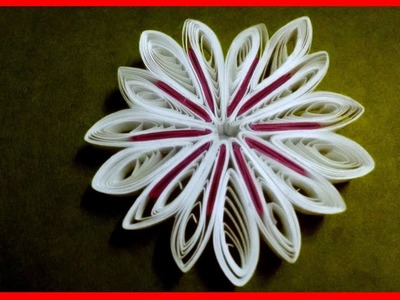 Quilled Flower Ornaments - Quilling Flower - Quilling Flower Greeting Card