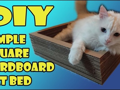 Simple DIY Square Cardboard Cat Bed