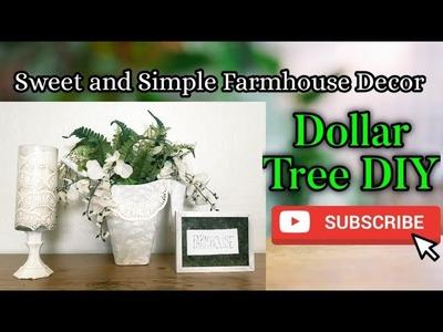 SWEET AND SIMPLE FARMHOUSE DECOR. Dollar Tree DIY