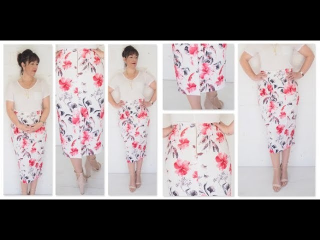 The Making of a High Waisted Pencil Skirt with Exposed Zipper