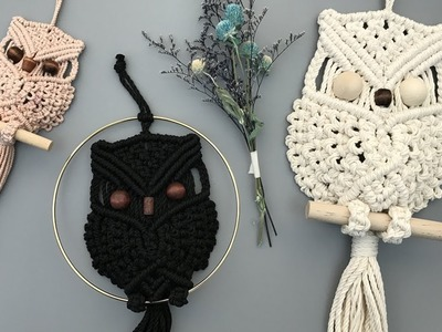 Tips for My Macrame Owl. 마크라메 부엉이 Tip