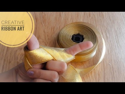 Unique & Creative Ribbon Art|Cool Ideas with Ribbon|Ribbon manipulation|Quicky Crafts