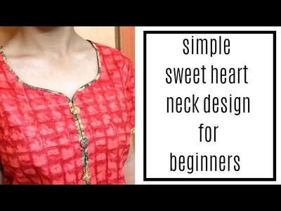 Very Easy Cutting and Stitching of Neck Design for Beginners