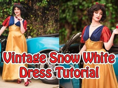 Vintage Snow White Dress Tutorial