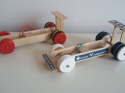 Wow! How to make a Rubber Band Dragster Car at Home from Popsicle sticks – Simple DIY toy