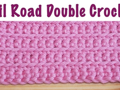 Blossom Crochet: Rail Road Doubles, US Single (simple, neat & texture!)