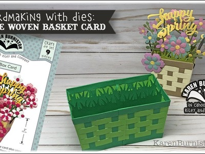 Cardmaking with Dies: Double Woven Basket Box Card (Recorded Live)