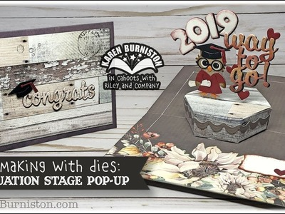 Cardmaking with Dies: Graduation Stage Pop-up
