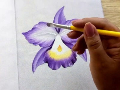 Como Pintar Orquídea. How to paint Orchid