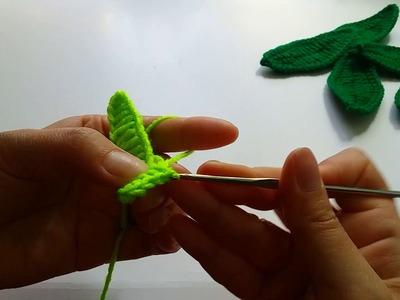 Crochet Leaf Tutorial Very Easy