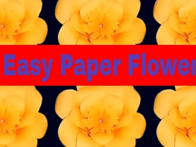 DIY: 6 Easy Paper Flowers|Origami Paper Flower Making|How to make paper origami flowers