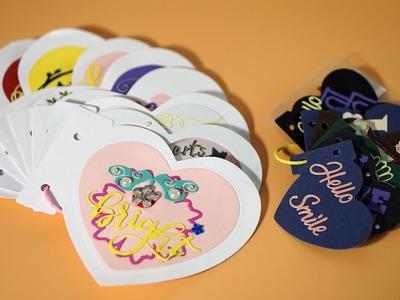 DIY Card Heart-shaped Scrapbook Series-Album Heart Dies