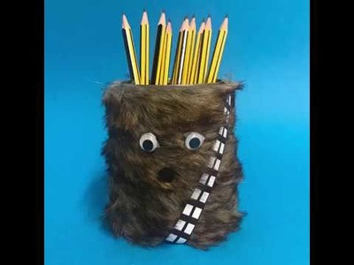 DIY Chewbacca Pencil Pot | Easy Star Wars Craft