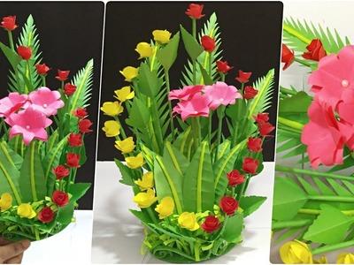 DIY Colorful Flower BOUQUET ???? Beautiful Paper Design Flower BOUQUET ???? Best BOUQUET Crafts Ideas ????