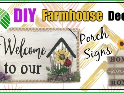 DIY Dollar Tree Farmhouse Decor |  Porch Sign Ideas | Momma From Scratch