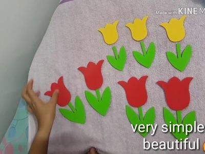 DIY Flower Decoration||Tulip flower???? and ????