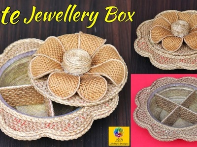 DIY Jewelry Organizer With Jute Rope And Cardboard | Multipurpose Organizer Craft | Jute Craft Idea