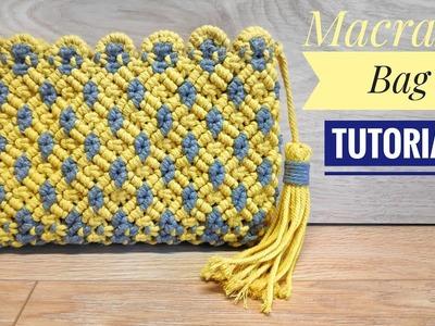 DIY Macrame Wallet For Girls | Macrame Clutch Bag Tutorial