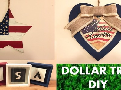 DOLLAR TREE DIY PATRIOTIC.4TH OF JULY DECOR!!!