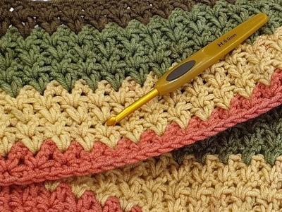 Double Crochet V-Stitch Blanket Border - Part 2
