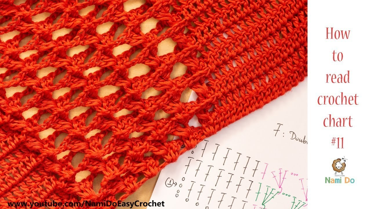 Easy Crochet: How to read crochet chart #11