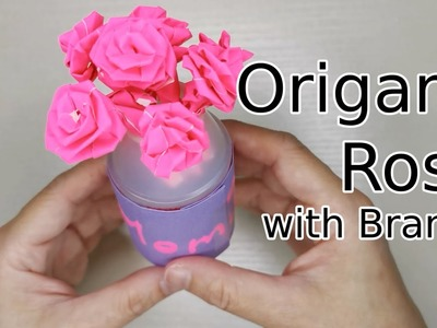 Make an Easy Origami Rose | 300x400