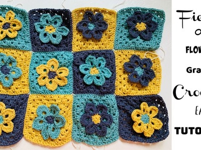 Field of Flower Granny square Easy Tutorial