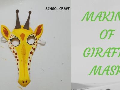 Giraffe mask  How to make giraffe mask  School Craft 