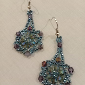 Handmade Austria Crytal Glass Beads Earrings