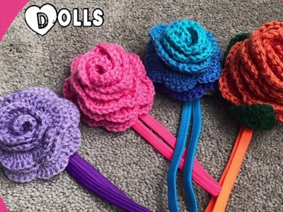 Headbands with crochet flower