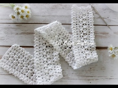 How to Crochet Lace Edging, Romantic Shabby Chic Lace, Step by Step Video Tutorial