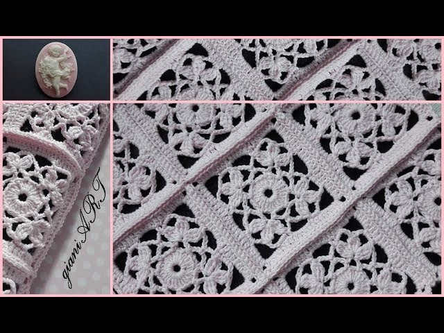 How to Join Crochet Lace Flower Granny Square together
