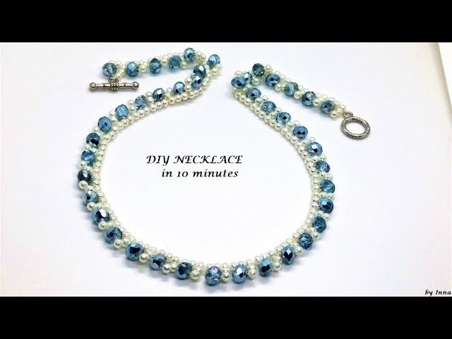 How to make a necklace, easy  tutorial.