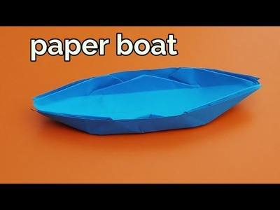 How to make a paper boat that floats | paper boat origami
